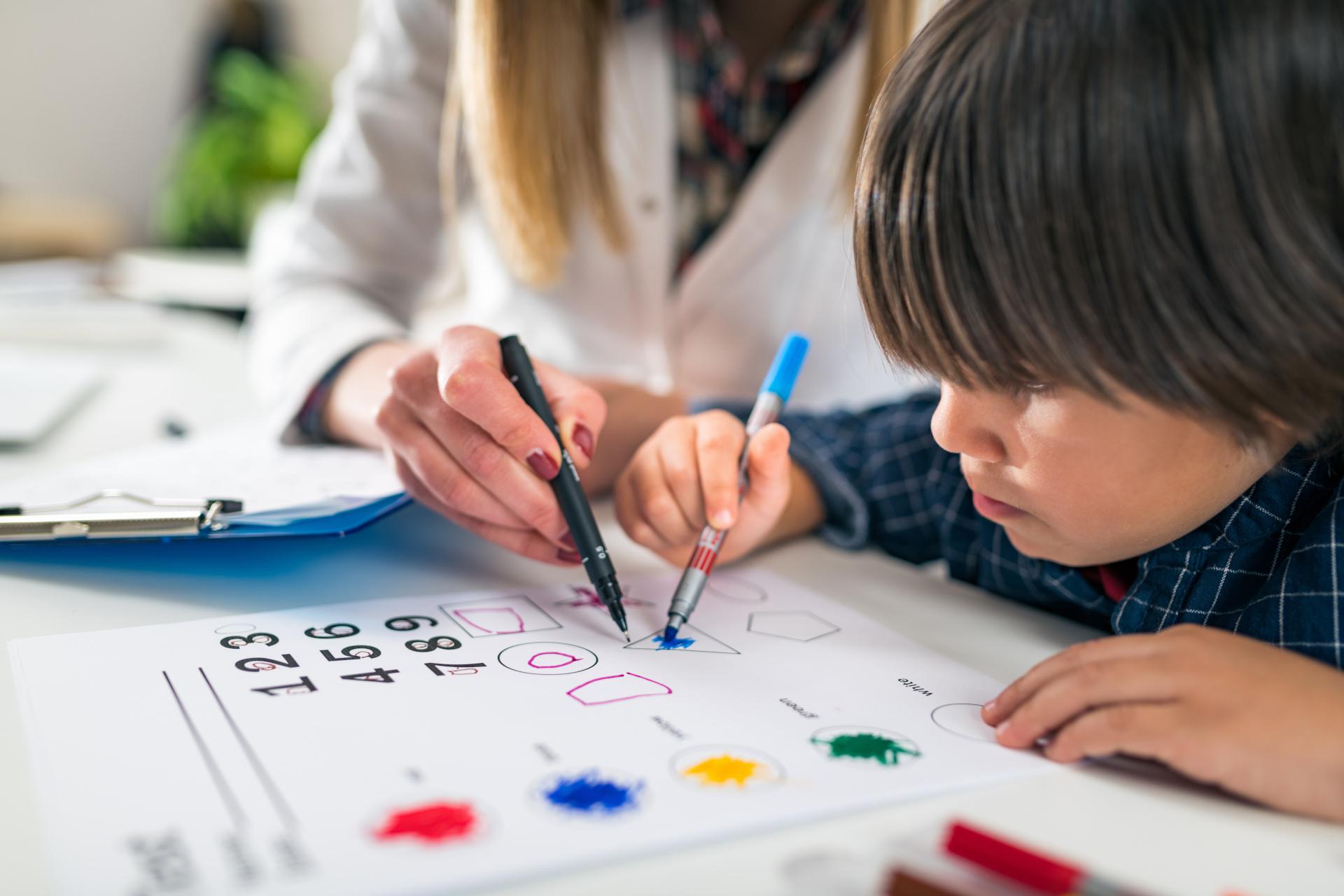 Psychology Test for Children – Toddler Coloring Shapes